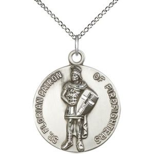 Sterling Silver St Florian Pendant